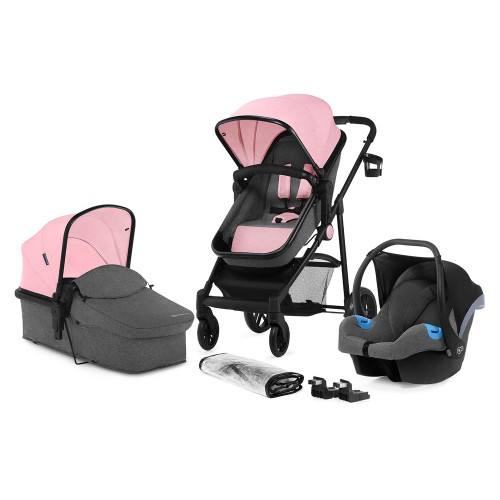 Kinderkraft Juli 3-in-1 Travel System - Pink