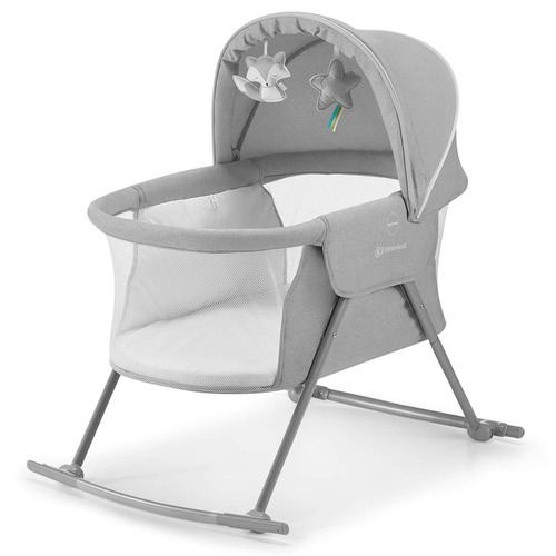 Kinderkraft Lovi 3-in-1 Baby Crib - Grey