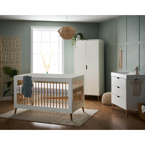 Obaby Maya 3 Piece Room Set - White with Natural