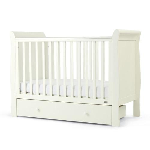 Mamas & Papas Mia Sleigh Cot & Undercot Storage - White