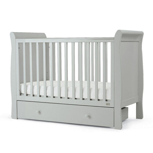 Mamas & Papas Mia Sleigh Cot with Undercot Storage - Cool Grey