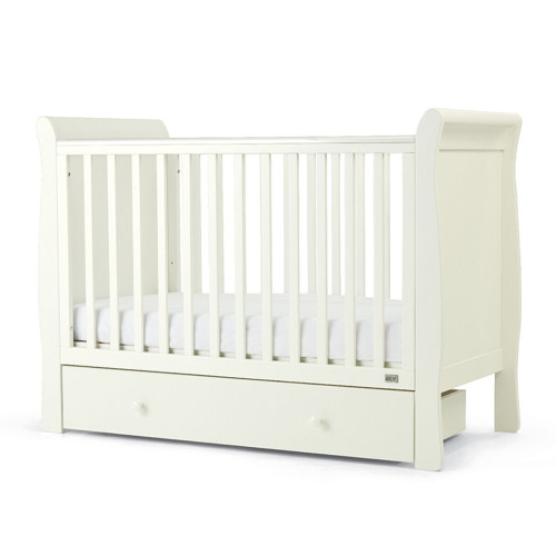 Mamas & Papas Mia Sleigh Cot with Undercot Storage - White