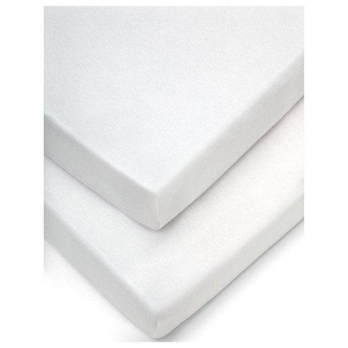 Mamas & Papas Crib Fitted Sheets (Pack of 2) - White