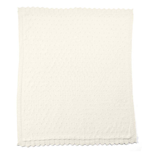 Mamas & Papas Lilybelle Pointelle Blanket - Cream