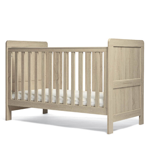 Mamas & Papas Atlas Cot/Toddler Bed - Light Oak