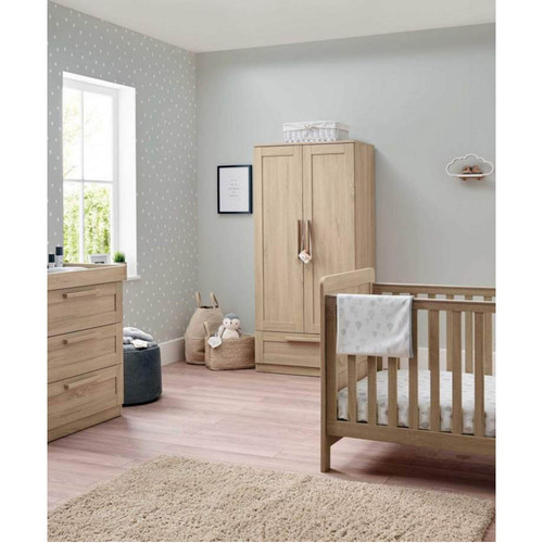 Mamas & Papas Atlas 3 Piece Cot/Toddler Bed Set - Light Oak