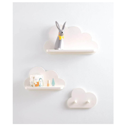 Mamas & Papas White Cloud Shelves and Coat Hook Set