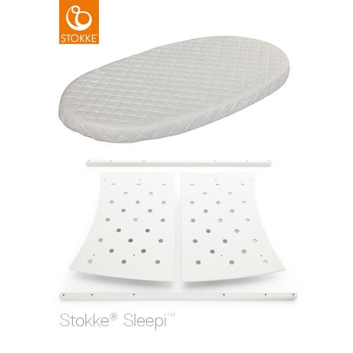 Stokke® Sleepi™ Junior Bed Conversion Kit + Mattress - White