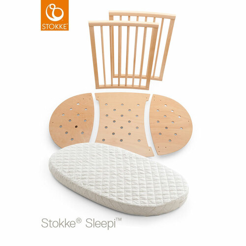 Stokke® Sleepi™ Bed Extension Kit + Mattress - Natural