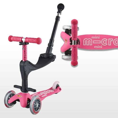 Micro Mini 3in1 Deluxe Scooter - Pink