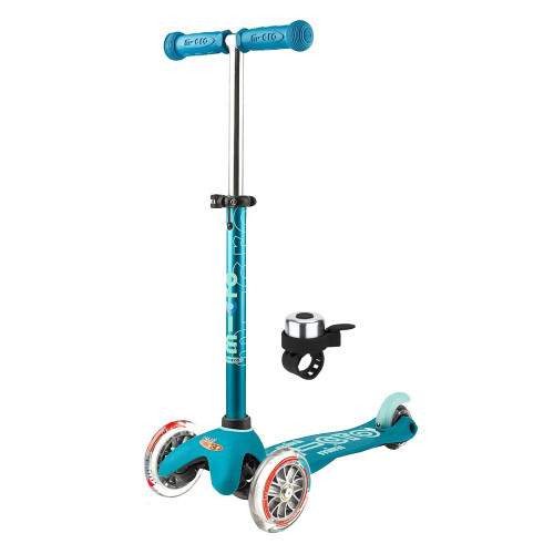 Micro Mini Deluxe Scooter + FREE Bell - Aqua