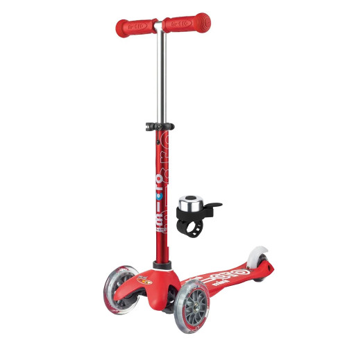 Micro Mini Deluxe Scooter + FREE Bell - Red