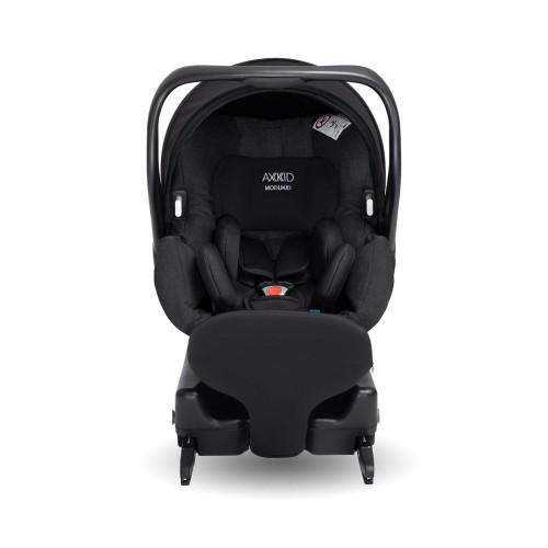 Axkid Modukid i-Size Infant Car Seat + Isofix Base - Black - front