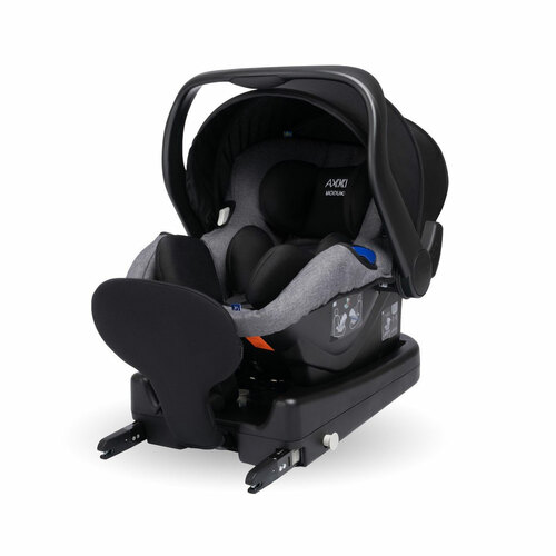 Axkid Modukid i-Size Infant Car Seat + Isofix Base - Grey