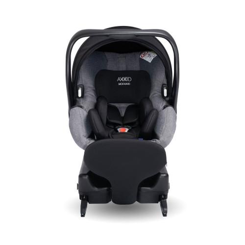 Axkid Modukid i-Size Infant Car Seat + Isofix Base - Grey - angle