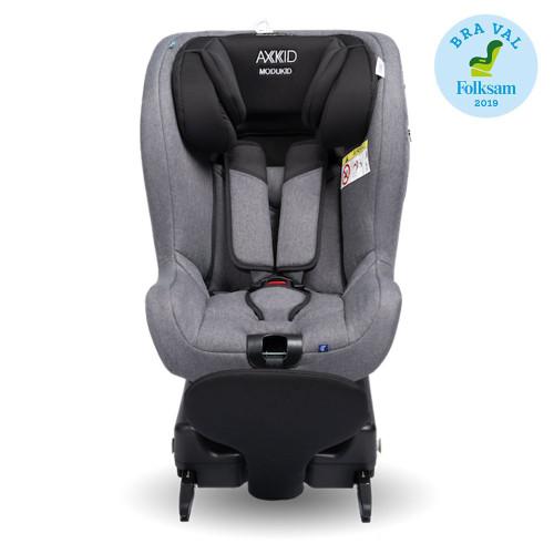 Axkid Modukid i-Size Toddler Car Seat + Isofix Base - Grey