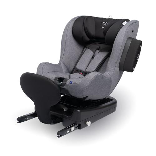 Axkid Modukid i-Size Toddler Car Seat + Isofix Base - Grey - angle