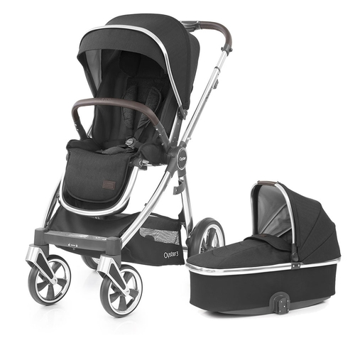 Babystyle Oyster 3 Pushchair + Carrycot - Mirror Chassis/Caviar