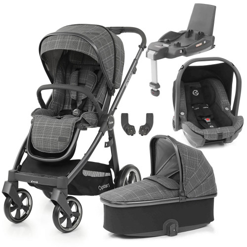 Babystyle Oyster 3 Essential 5-Piece Bundle - City Grey Chassis/Manhattan