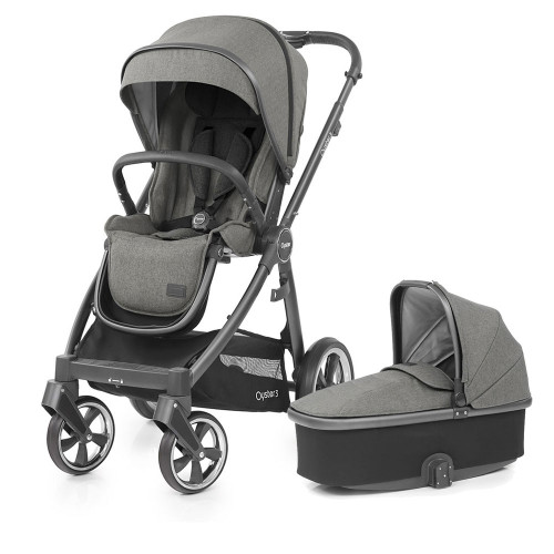 Babystyle Oyster 3 Pushchair + Carrycot - City Grey Chassis/Mercury