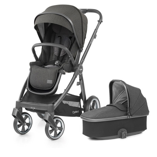 Babystyle Oyster 3 Pushchair + Carrycot - Mirror Chassis/Pepper