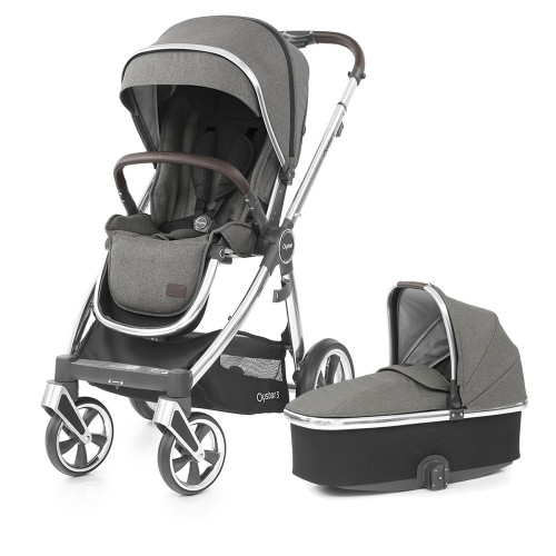 Babystyle Oyster 3 Pushchair + Carrycot - Mirror Chassis/Mercury