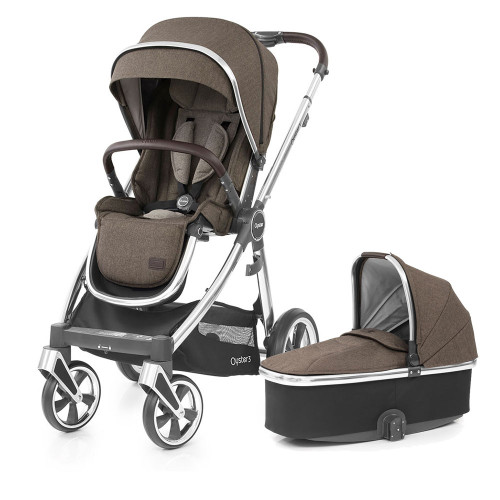 Babystyle Oyster 3 Pushchair + Carrycot - Mirror Chassis/Truffle