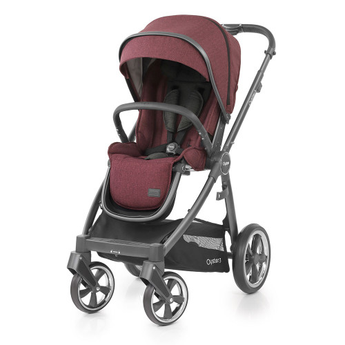 Babystyle Oyster 3 Pushchair - City Grey Chassis/Berry