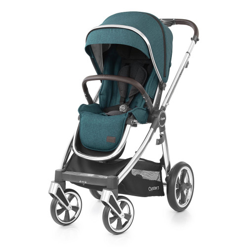 Babystyle Oyster 3 Pushchair - Mirror Chassis/Peacock