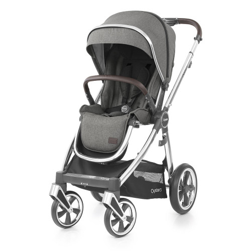 Babystyle Oyster 3 Pushchair - Mirror Chassis/Mercury