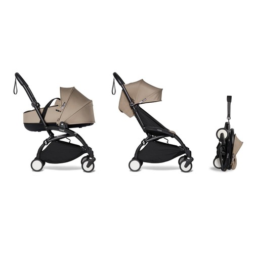 BABYZEN YOYO2 Bassinet Package - Taupe with Black Frame