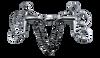 Pelham Snaffle Horse Bit Stainless Steel with KK Style Link 100mm