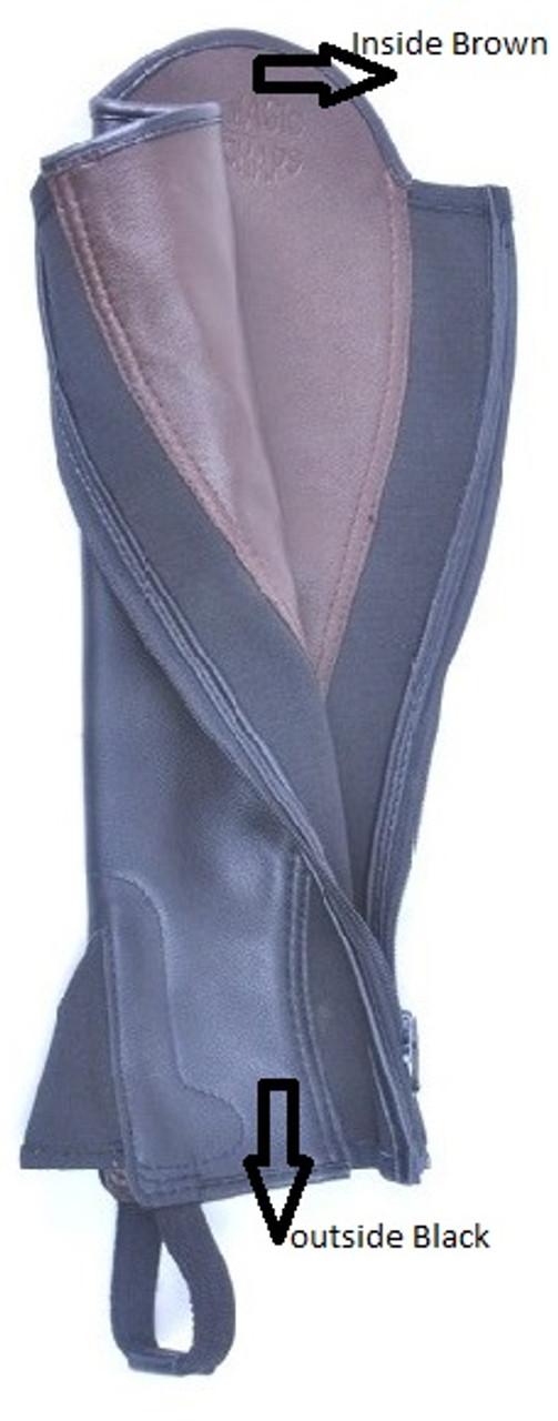 Black & Brown Reversible Soft Leather Gaiter