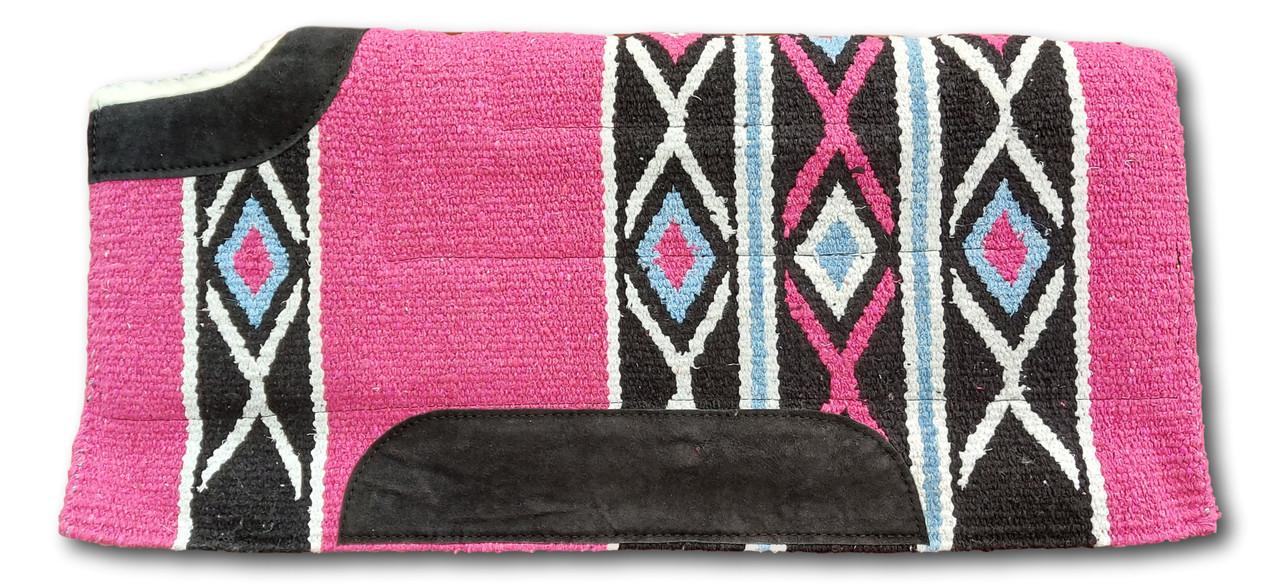 Navajo Western Saddle Pad/Saddle Cloths Thick Fur Padding back (Style-2)