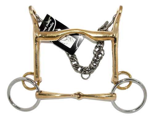 Weymouth Snaffle Horse Bit Special Angle Set with Loose Ring jointed Bridoon CUP