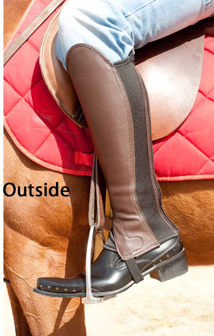 Black & Brown Reversible Soft Leather Gaiter