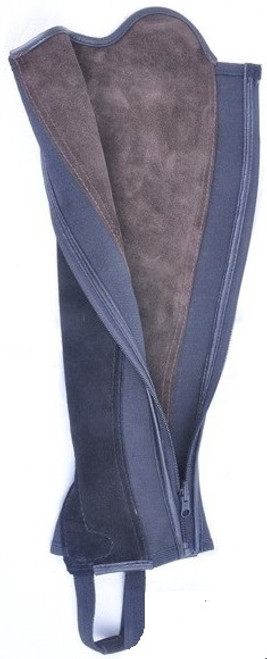 Black and Brown Reversible Suede Leather Gaiters