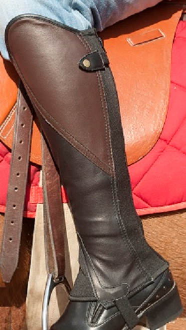 Comfort Gaiter Brown & Black  Soft leather