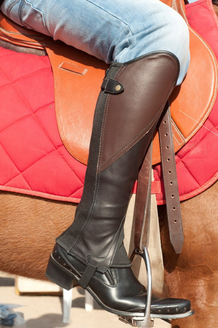 Comfort Gaiter Brown & Black  Soft leather