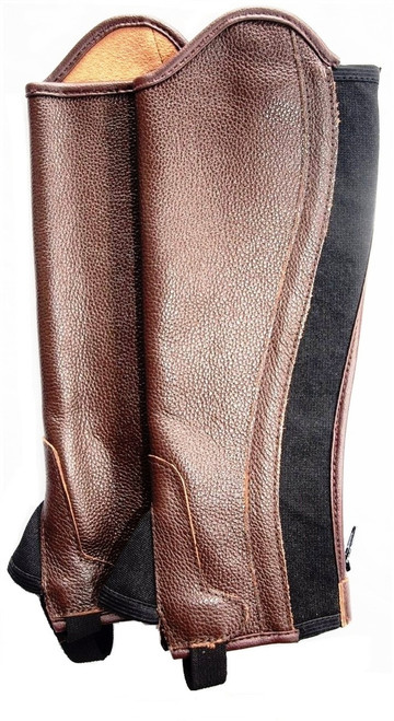 Soft Leather Gaiters with  Elastic Gusset
