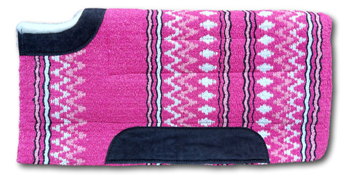 Navajo Western Cut Back Saddle Pad Thick Fur Padding back (Style-4)