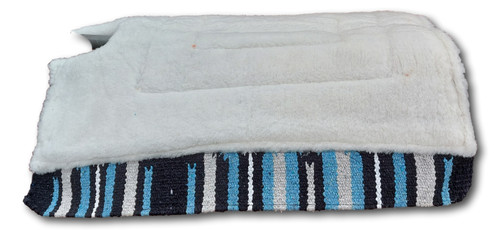 Navajo Western Saddle Pad/Saddle Cloths Thick Fur Padding back (Style-7)