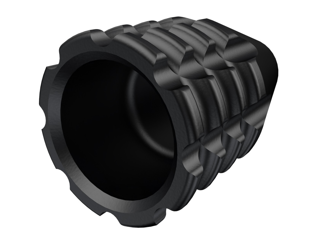 """Rowe TacticalRemington 700 Bolt Knob / Savage Bolt Knob 5/16""""-24 Stainless Steel PVD Coated - CNC Milled Cross Hatch Pattern - Black"""