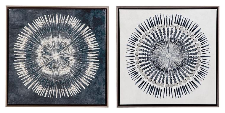 Monterey Wall Art (Set of 2) | Blue/White | A8000155