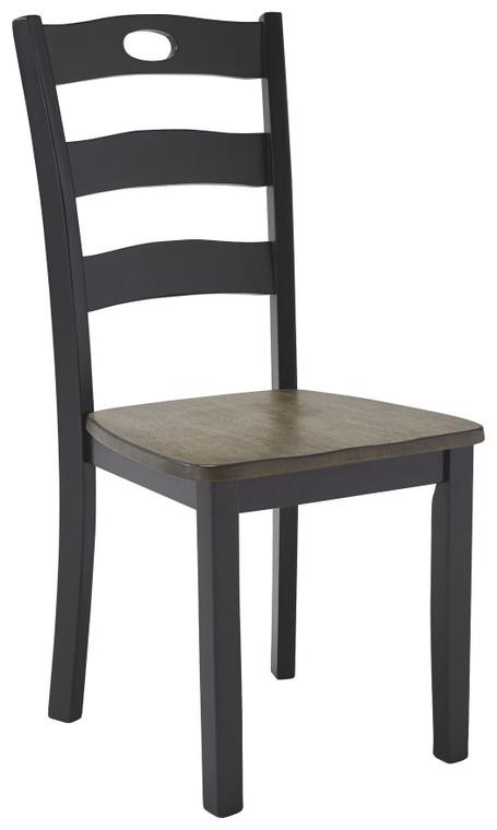 Froshburg Dining Room Side Chair (Set of 2) | Grayish Brown/Black | D338-01