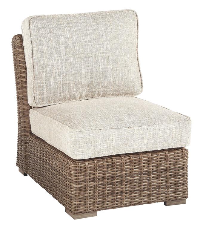 Beachcroft Armless Chair w/Cushion | Beige | P791-846