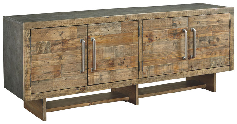 Mozanburg Extra Large TV Stand | Rustic Brown | W665-68