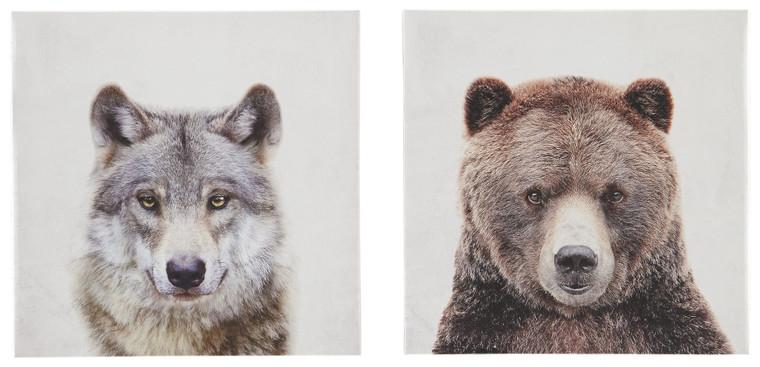 Albert Wall Art (Set of 2) | Gray/Brown | A8000261