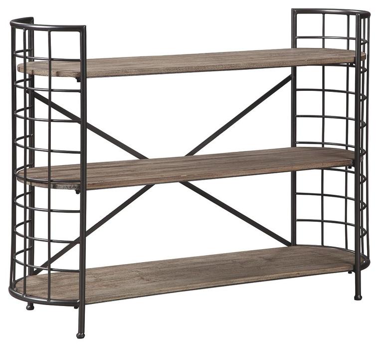 Flintley Bookcase | Brown/Gunmetal | A4000075
