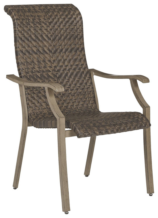 Windon Barn Arm Chair (Set of 4) | Brown | P318-601A